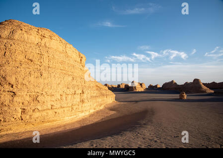 Rock Formations in Yadan National Geologic Park, Gansu Province, China - Stock Image