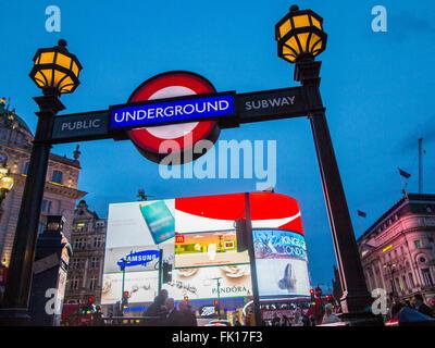 Piccadilly Underground station - Stock Image