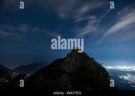View from Bico do Papagaio mountain in Tijuca Forest, Rio de Janeiro, Brazil - Stock Image