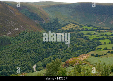 The A470 Cardiff to Glan Conwy Trunk Road From Yr Wylorn near Rhayader - Stock Image