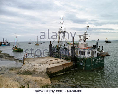 Fishing trawler Mary Amelia at Leigh on Sea; Essex - Stock Image
