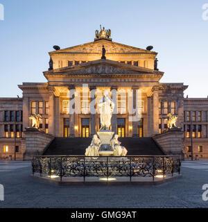 Concert House, Schiller Statue,  Gendarmenmarkt, Gendarme market, Berlin - Stock Image