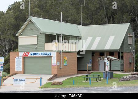 Marine Rescue headquarters Kioloa on the southern end of Kioloa beach on the south coast of New South Wales, Australia - Stock Image