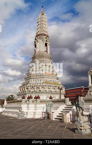 A Satellite Prang of Wat Arun, Bangkok, Thailand. - Stock Image