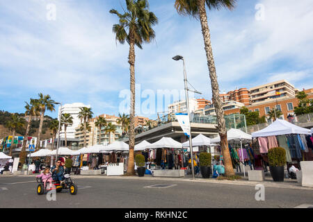 Outdoor market, Muelle uno, Malaga port, Andalusia, Spain. - Stock Image