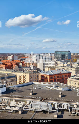 Downtown Poznan cityscape on a sunny day, Poland. - Stock Image