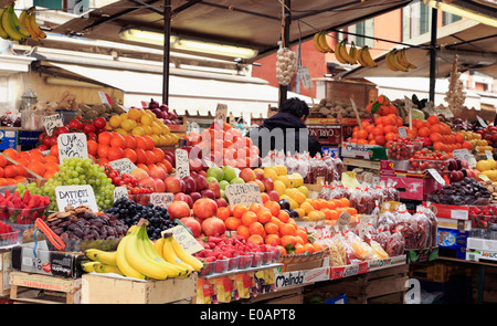Fruit stand market, Venice, Italy. - Stock Image