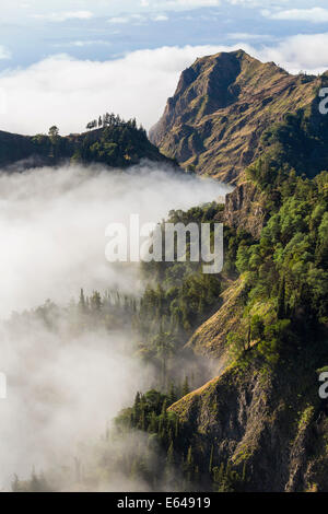 Mountains above the clouds, Santo Antao, Cape Verde - Stock Image