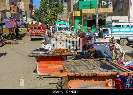 A local market at Edfu, Upper Egypt, North Africa - Stock Image