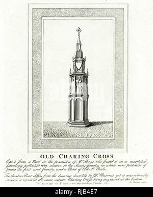 Old Charing Cross. - Stock Image