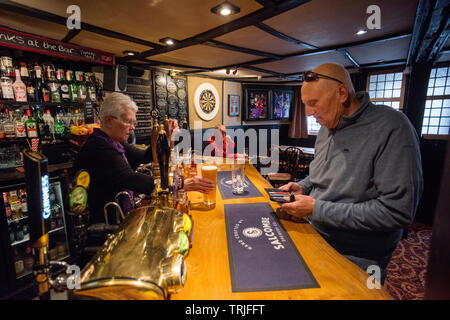 The Union Inn Mortonhampstead Dartmoor England UK. May 2019 The Union Inn is a traditional tavern with a history stretching back several centuries.  I - Stock Image
