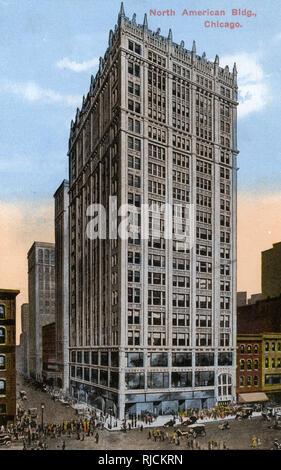 North American Building, Chicago, Illinois, USA. - Stock Image