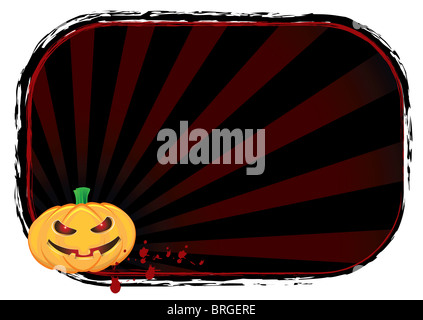 Halloween Pumpkin Banner - Stock Image