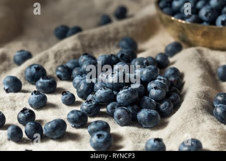 Raw Blue Organic Blueberries Ready to Eat - Stock Image