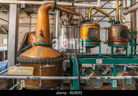 Saint Lucia Distillers rum factory. - Stock Image