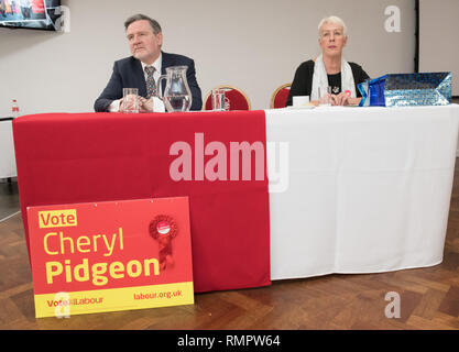 Nottingham, Nottinghamshire, England, UK. 16th. February, 2019. Local Election event. Labour's Shadow Secretary of State for International Trade, Barry Gardiner M.P. at a People Power event in Nottingham and also campaigning in the upcoming local elections in Rushcliffe, Nottingham. Alan Beastall/Alamy Live News - Stock Image