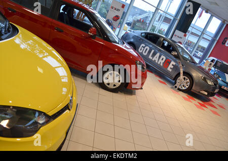 Car sales centre, MG, Longbridge, Birmingham. - Stock Image