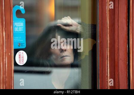 Prague, Czech Republic. 08th Nov, 2018. British actress Laura Benson poses within a presentation of the Touch Me Not film, in Prague, Czech Republic, on November 8, 2018. Credit: Michaela Rihova/CTK Photo/Alamy Live News - Stock Image