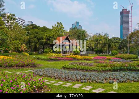 Lumphini Park, Pathum Wan district, Bangkok, Thailand - Stock Image
