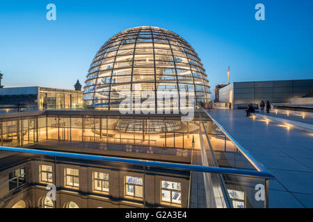 Norman Foster's Dome of the Reichstag Building, Berlin, Germany - Stock Image