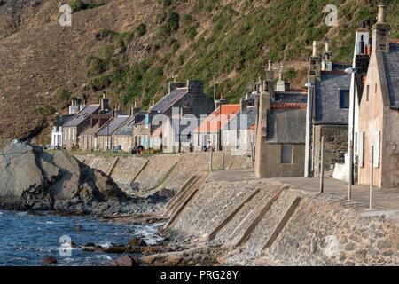 Crovie Village, Moray Firth, Scotland - Stock Image