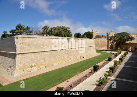 The walled, fortified city of Mdina in Malta - Stock Image