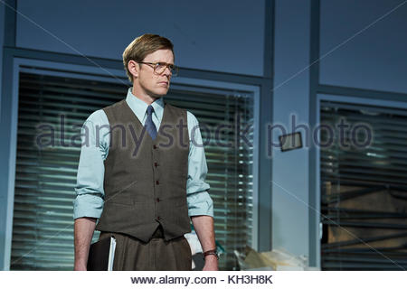 Glengarry Glen Ross by David Mamet, directed by Sam Yates. With Kris Marshall as John Williamson. Opens at The Playhouse - Stock Image