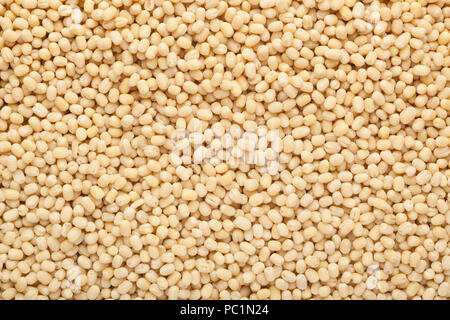 White urad in a square bowl isolated on white background - Stock Image