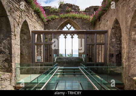 Alina's Chapel, Oystermouth Castle, Wales, UK - Stock Image