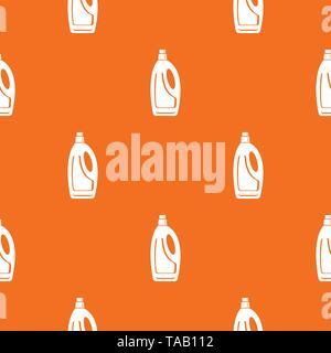 Detergent bottle pattern vector orange - Stock Image