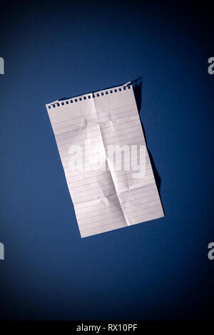 Creased Lined Page - Stock Image