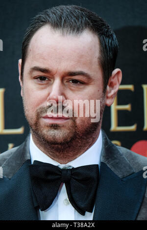 London, UK. 7th Apr 2019. Danny Dyer poses on the red carpet at the Olivier Awards on Sunday 7 April 2019 at Royal Albert Hall, London. Picture by Credit: Julie Edwards/Alamy Live News - Stock Image