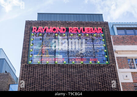 The exterior of the Raymond RevueBar, Walker's Court, Soho, London, UK - Stock Image