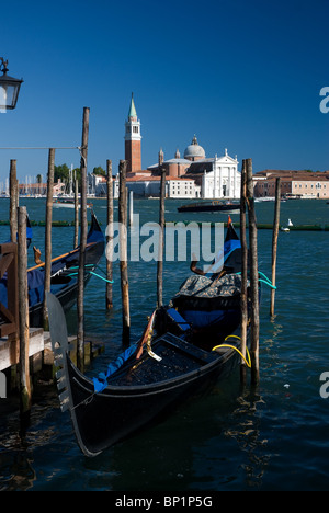 Grand canal and gondolas, Venice, Italy - Stock Image
