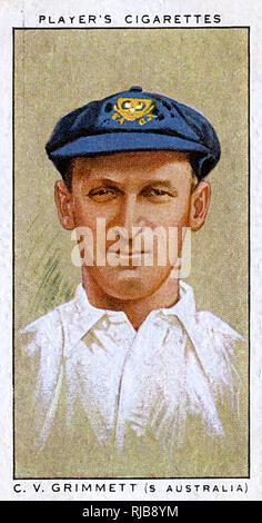 C V Grimmett, Australian cricketer, South Australia. - Stock Image