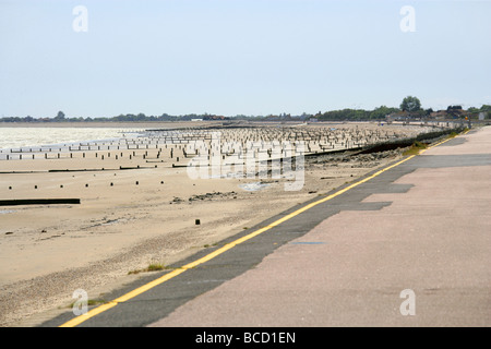 The Sea Front at Dymchurch, Kent, UK - Stock Image