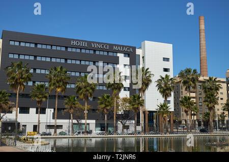 Hotel Vincci Málaga. Andalusia, Spain. - Stock Image