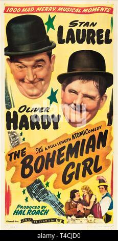 LAUREL,POSTER, THE BOHEMIAN GIRL, 1936 - Stock Image