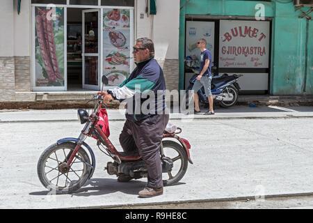 Dairy Shop and restaurant Tirana Albania - Stock Image