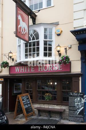 The White Horse Pub, Oxford - Haunt of Inspector Morse - Stock Image