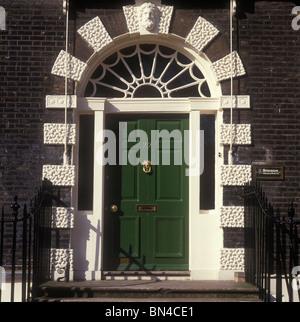 Georgian doorway Bedford Square Bloomsbury  London England - Stock Image