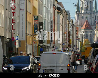 Munich Landwehrstrasse Landwehr street Muslim Arabic shop Germany Europe - Stock Image