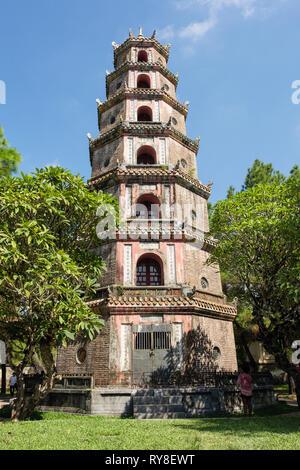 Thien Mu Pagoda. Hue, Thừa Thien–Hue Province, Vietnam, Asia - Stock Image