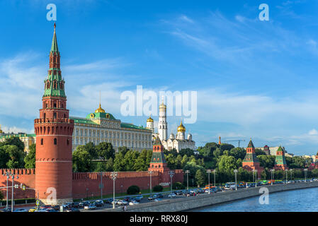 View of the Kremlin from the bridge - Stock Image