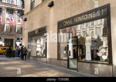 Anne Fontaine Store in Rockefeller Center Channel Gardens, NYC - Stock Image