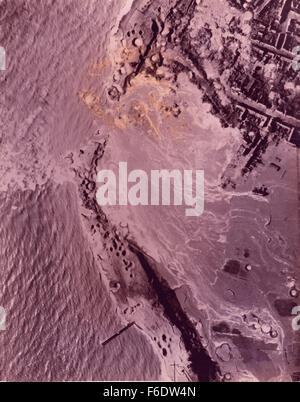 723. Holland Dutch Island of WelcherenRAF attack German coastal defences and breach the dykes. - Stock Image