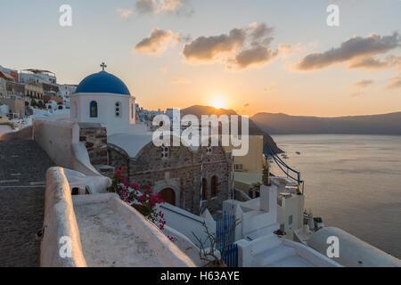 Sunrise at Oia , Santorini - Stock Image