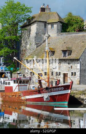 Honfleur harbor, France - Stock Image