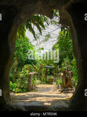 Vietnam, Orchid Island. entrance to the tropical park on the orchid island. - Stock Image