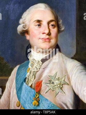 Portrait of Louis XVI, King of France, c. 1777 RKM - Stock Image